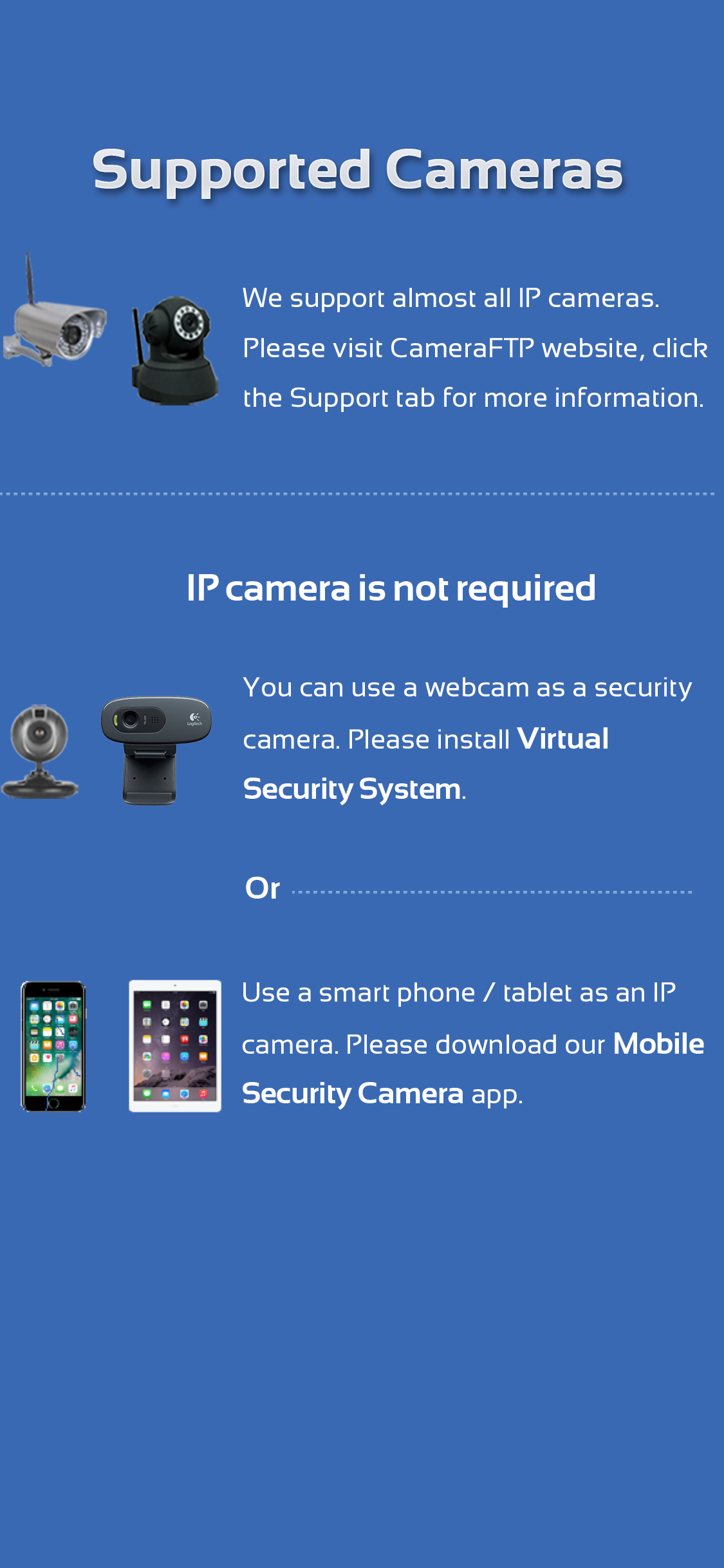 Mobile CameraFTP Viewer APP for iOS - View or play back