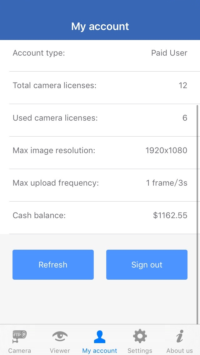 CameraFTP Mobile Security Camera for iOS - Use old iPhone