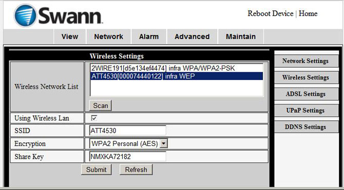 Configure Swann network camera to upload video clips or image