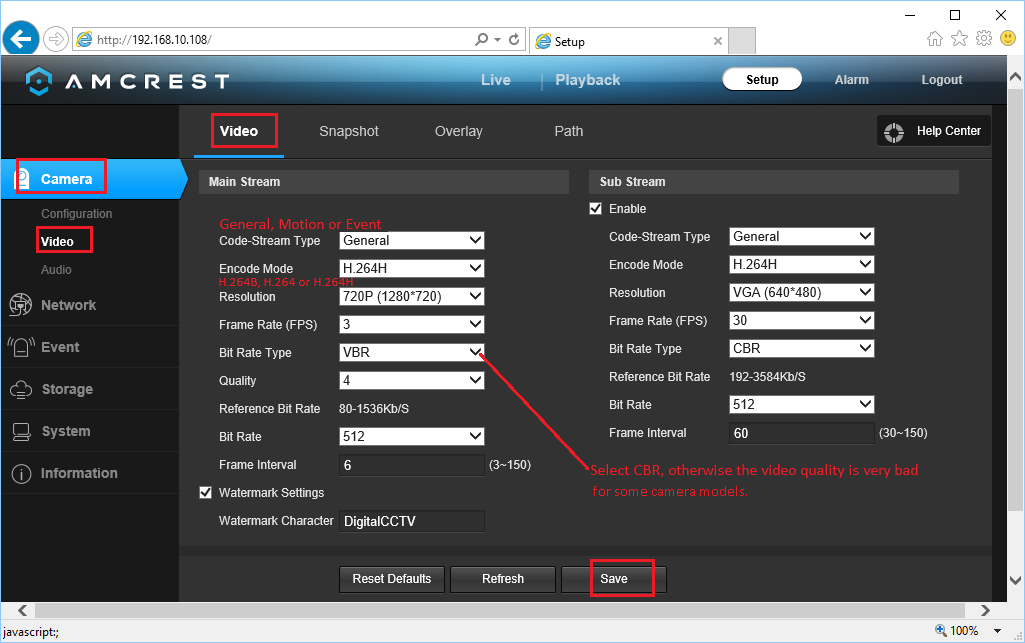 Configure Amcrest network Cameras/DVRs to upload image snapshots