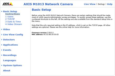 Setup Axis M1013 IP camera / DVR to upload video clips/image