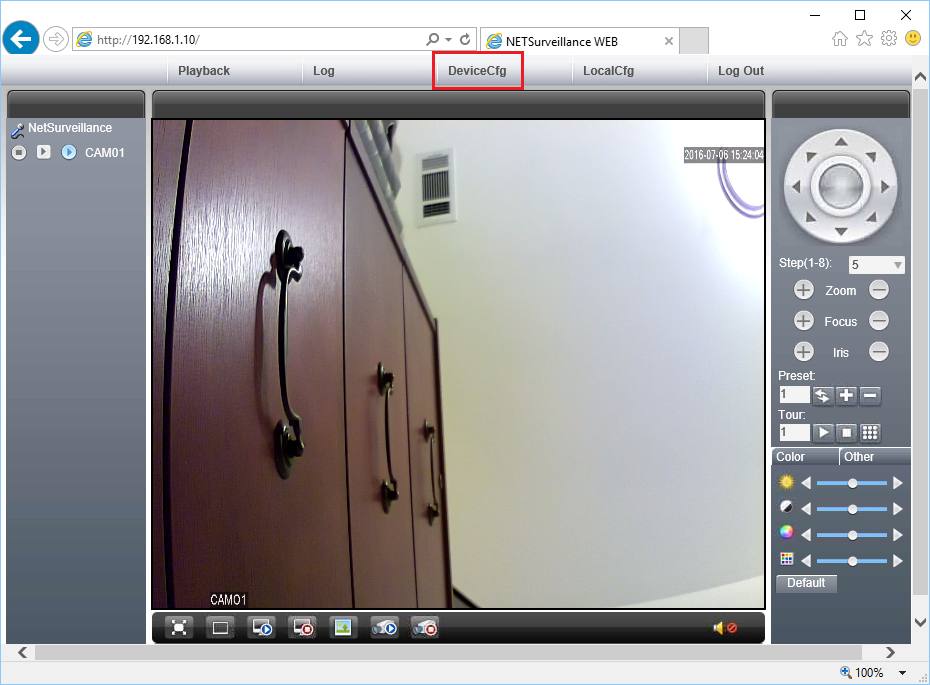 Configure Ctronics network cameras to upload image snapshots