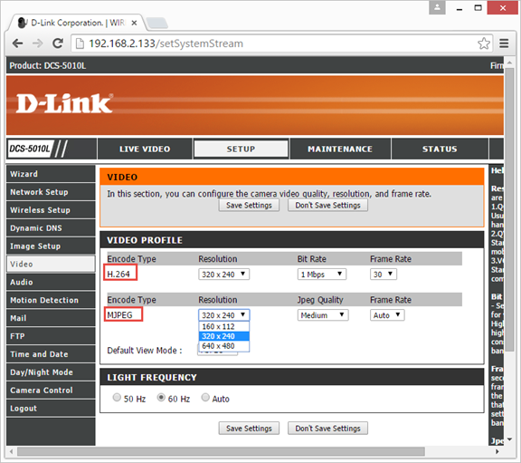 Setup DLink DCS-5010L & DCS-933L to upload video clips or images to