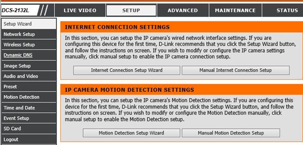 Configure D-Link DCS-2132L to upload image snapshots / video clips