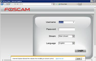 Configure Foscam FI9831P network Camera to upload image snapshots