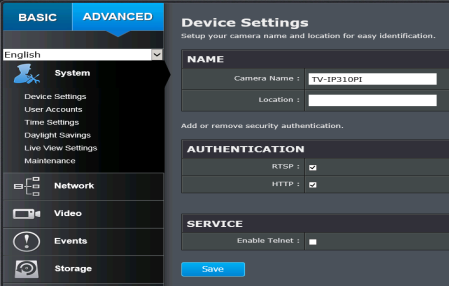 Configure TrendNet TV-IP310PI network camera to upload image