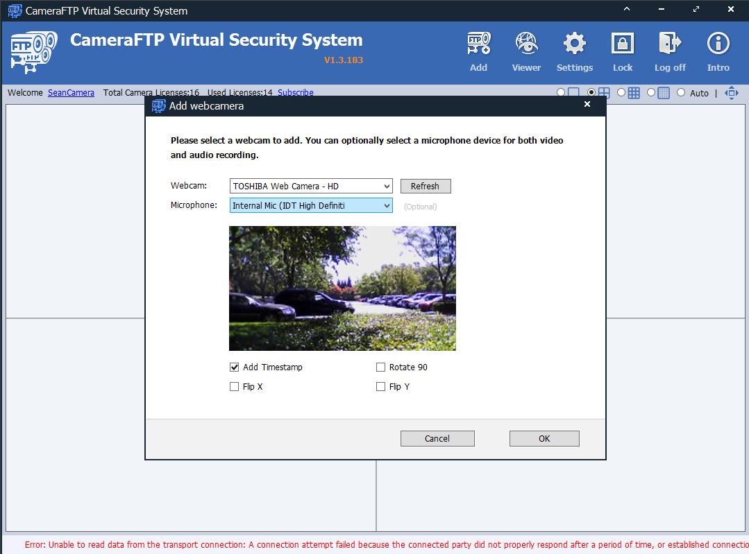 CameraFTP Virtual Security System: use PC/laptop as Cloud CCTV / DVR